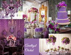 Wedding Decor In Amethyst Orchid Can Add Such A Beautiful And Dramatic Touch To Your Special