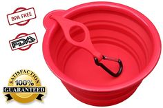 Northern Outback Collapsible Travel Dog Bowl, 7 Inch with BONUS Clip and Carabiner, 5 Cup for Medium to Large Dogs. Silicone Travel Pet Bowl Supersize 40oz *** Click image to review more details.