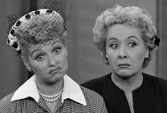 show: I Love Lucy. Lucille Ball & Vivian Vance star as Lucy Ricardo and Ethel Mertz Vivian Vance, Lucille Ball, Lucy Liu, Nostalgia, Before I Forget, Don't Forget, National Best Friend Day, Photo Vintage, Vintage Tv