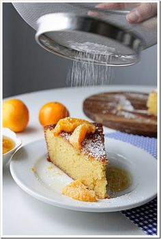 Almond Cake with Caramelized Clementines