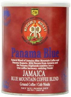 Reggie's Roast Jamaica Blue Mountain Panama Blue Ground Coffee, 12-Ounce Cans (Pack of 2) by Reggie's Roast -- Awesome products selected by Anna Churchill