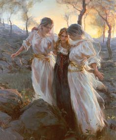My favorite painting.  Hinds' Feet by Daniel Gerhartz  The Lord God is my strength, and he will make my feet like hinds' feet, and he will make me to walk upon mine high places...                                              Habakkuk 3:8