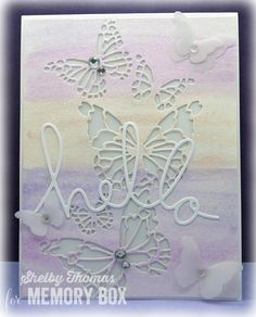 butterfly die card