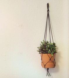 DIY Læder plantehænger