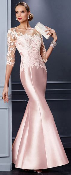 Marvelous Tulle & Satin Bateau Neckline Mermaid Mother of the Bride Dresses With Lace Appliques