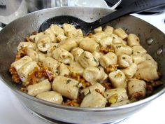 Goat Cheese Ricotta Gnocchi with Walnut Thyme Butter Sauce via The Spiffy Cookie