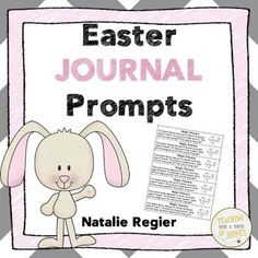 "$ Need ideas to get your students writing? Promote writing with these Easter journal prompts!  The ""Easter Journal Prompts"" package contains 25 writing prompts that you can use to support the development of your students' writing skills."