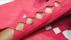 Latest Beautiful Sleeves Design Cutting And Stitching (Very Easy Way ) Kurti Sleeves Design, Kurta Neck Design, Sleeves Designs For Dresses, Sleeve Designs, Silk Kurti Designs, Churidar Neck Designs, Kurti Designs Party Wear, Neckline Designs, Blouse Neck Designs