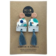Introducing @heidihelyard ... we ❤your fabulous designs!! You can check them all out in store or online @giftsatteacup ❤❤❤ #handmade #polymerclay #pattern #design #giftsatteacup #jewelry #jewellery #earrings #madeinaustralia #madebyhand #boutique #shophandmade #shopsmall #onlineshopping #ruralqld #ruralbusiness #womeninbusiness #teacherstyle #style #whattowear #luxe #lifestyle #new #fabulous #tassel #tassels