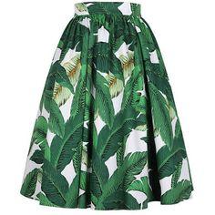 Green skirt, Banana leaf skirt, Maxi skirt, Cotton skirt, Midi skirt,... ($71) ❤ liked on Polyvore featuring skirts, pleated skirt, green pleated skirt, pleated midi skirt, long cotton skirts and midi skirt