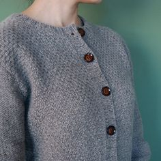 Moss stitch cardigan KIT