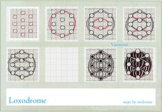 Free Zentangle How To Patterns | Life Imitates Doodles: My tangle pattern: Loxodrome