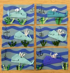 Origami whales-elementary-Art with Mr. Giannetto blog