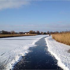 Schaatsen in Nieuwkoop langs prachtige natuur.