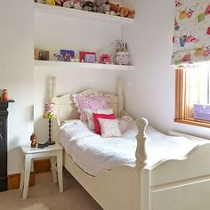 White characterful girl's bedroom   Childrens room decorating   Style at Home   Housetohome.co.uk