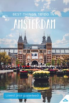 Sure, everyone knows about the coffee shops -- but what else is fun to do in Amsterdam? Holland's capital city is a hub for happy cyclists, lazy beers by the canal, and art-lovers. As you start planning what to see, here are ten activities you can't miss. Lowest price guaranteed! #travel #amsterdam #museumplein #rijksmuseum #tours #city