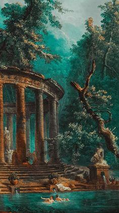 fode the people Aesthetic Painting, Aesthetic Art, Angel Aesthetic, Rennaissance Art, Scenery Wallpaper, Wallpaper Wallpapers, Classical Art, Fantasy Landscape, Fantasy Art Landscapes