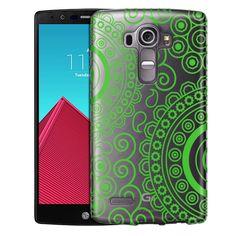LG G4 Paisley Circles Green Case