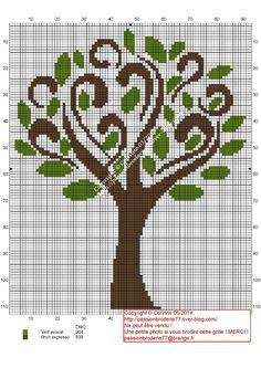 drzewo Cross Stitch Tree, Cross Stitch Flowers, Cross Stitch Charts, Cross Stitch Designs, Cross Stitch Patterns, Cross Stitch Geometric, Modern Cross Stitch, Geometric Cat, Cat Cross Stitches
