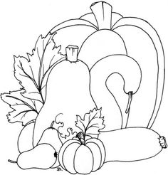 Beccy's Place: Pumpkins, this would be a nice appliquéd block or a hooked rug piece. Fall Coloring Pages, Coloring Sheets, Coloring Books, Wool Applique, Applique Patterns, Hand Embroidery, Embroidery Designs, Rug Hooking Patterns, Christmas Drawing