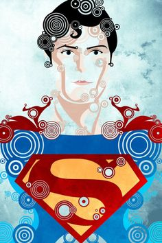 More vintage heroes by Joshua A. Biron - Superman '78.  More at his Deviantart page: