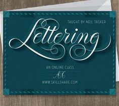 Lettering: Learn to Draw Illustrative Words // Skillshare class from March 13-April 3 $20