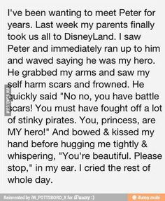 Faith In Humanity Restored I think I just fell in love with Peter Pan Disney Love, Walt Disney, Disney Magic, Disney Parks, Disney Cast, Disney Bound, Disney Style, Be My Hero, Never Be Alone