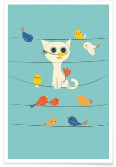 Bird Watching als Premium Poster von Jay Fleck   JUNIQE