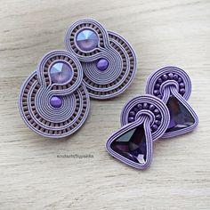 Small Rope Jewelry, Funky Jewelry, Etsy Jewelry, Leather Jewelry, Jewelery, Soutache Necklace, Beaded Earrings, Handmade Necklaces, Handmade Jewelry