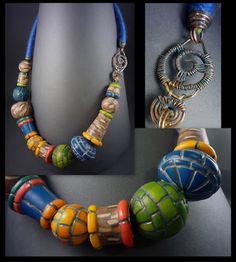 Rimma Zhytnytska, polymer clay necklace.