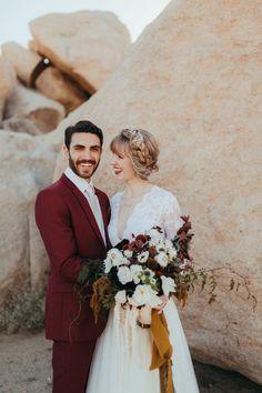 This Joshua Tree Wedding at Pipes Canyon Lodge was Rich with Desert Romance   Junebug Weddings