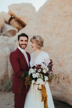 78a7859cbf This Joshua Tree Wedding at Pipes Canyon Lodge was Rich with Desert Romance