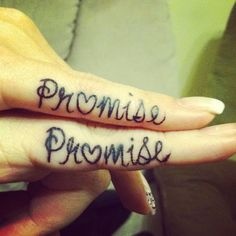 Sister pinky promise tattoo