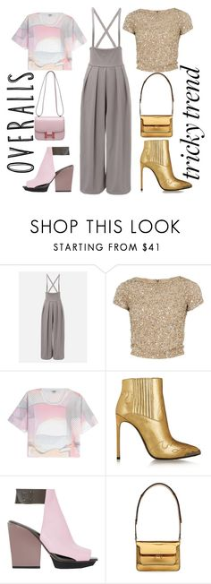 """Untitled #117"" by harmonyandlove on Polyvore featuring Alice + Olivia, Kenzo, Yves Saint Laurent, 3.1 Phillip Lim, Marni, Hermès, TrickyTrend and overalls"
