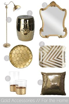 decorating with gold accents