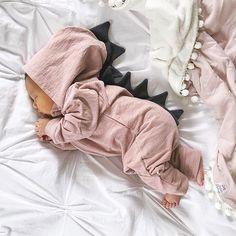 Lulu Dinosaur Jumpsuit (Dusty Pink)