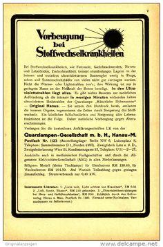 Original-Werbung/Inserat/ Anzeige 1931 - 1/1-SEITE : HANAU HÖHENSONNE   - ca. 170 x 250 mm