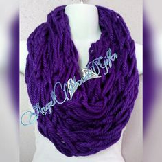 Check out this item in my Etsy shop https://www.etsy.com/listing/291529625/purple-infinity-scarf-handmade-scarf