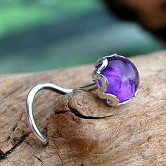 Hey, I found this really awesome Etsy listing at https://www.etsy.com/listing/159696700/amethyst-nose-stud-set-in-a-filigree-of