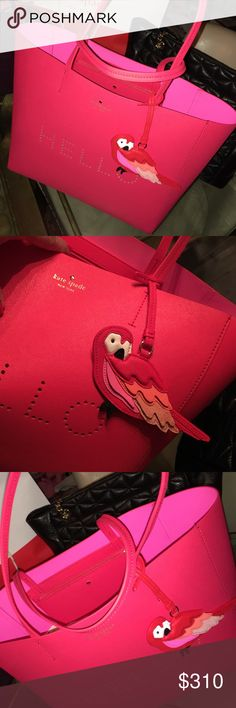 Kate Spade Hello Parrot Tote Kate Spade leather hello parrot tote kate spade Bags Totes