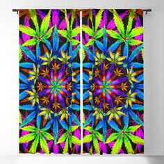 Stoners' Mandala Blackout Curtain by the Weed Art Lady -Crafted with lightweight polyester -Single sided print with white on reverse -Machine wash cold, tumble dry low (W) x (H) (W) x (H) pocket for easy hanging on any curtain rod Blackout Windows, Blackout Curtains, Weed Art, Stoner, Mandala Design, Curtain Rods, Home Decor Accessories, Room Ideas, Tapestry