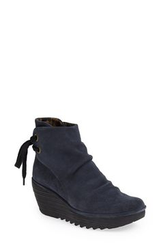 Free shipping and returns on Fly London 'Yama' Bootie at Nordstrom.com. A slouchy leather boot is crafted with a heavily lugged wedge sole for bold, trend-right appeal.