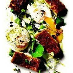STARTER Truffled Deviled Eggs Asparagus and truffle vinaigrette
