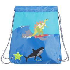 Joules - Blue Drawstring 'Dino' Backpack   Childrensalon