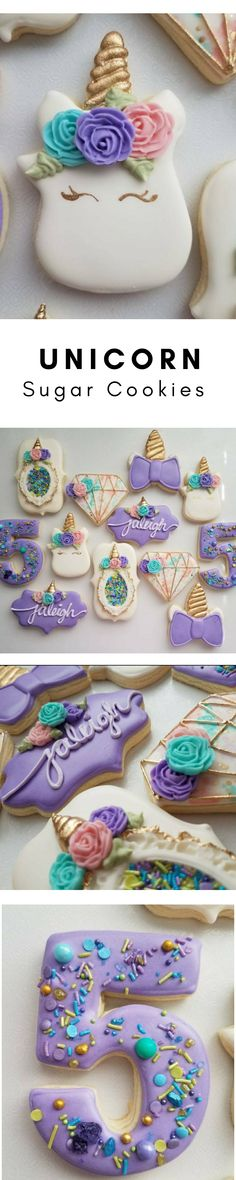 Unicorn Sugar Cookies, purple sugar cookies #affiliate