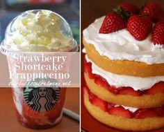 Starbucks Secret Menu Strawberry Shortcake Frappuccino!