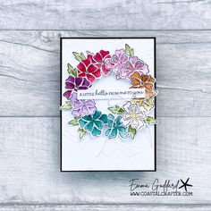 Friendship Flowers, Friendship Cards, Bunch Of Flowers, Small Flowers, Diy Arts And Crafts, Paper Crafts, Rainbow Card, Craft Club, Card Making Tutorials