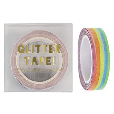 RAINBOW GLITTER TAPE - washi glittery tape to do up all your party pretties. Bonjour Fete - a party supply boutique