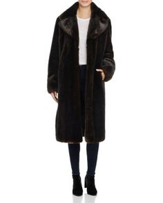 KENDALL AND KYLIE KENDALL AND KYLIE FAUX MINK FUR COAT. #kendallandkylie #cloth #