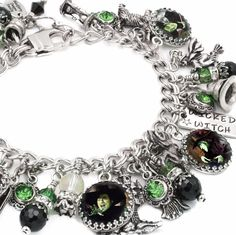 Wicked Witch charm bracelet, Witch Bracelet, Wicked Witch of the West - Blackberry Designs Jewelry